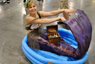 I almost tripped over this Mer-person.