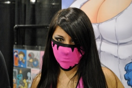 Ninja girl at Shelby Robertson's table, whom I can only assume was his girlfriend.