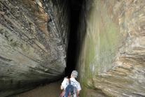 Inside narrower cave deeper in Walnut Canyon.