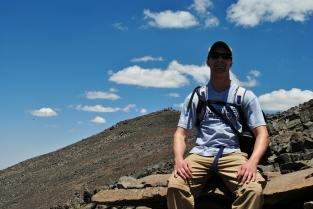 The summit behind me.
