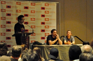 DC panel with writer Scott Lobdell, John Layman, and Kyle Higgins.