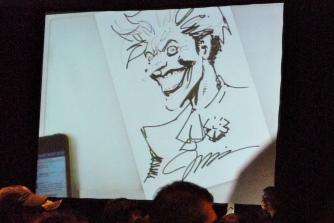 Jim Lee's finished sketch of the Joker.