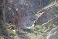 The bowl, or slide rock, area.